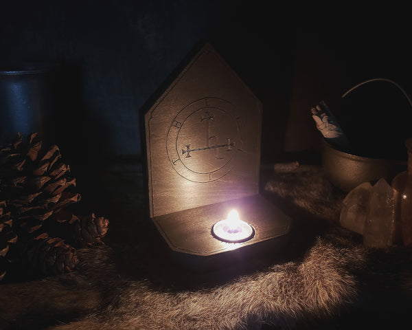 Sigil of Lilith Candle Holder