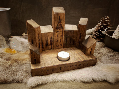 Forest Tower Altar Candle Holder