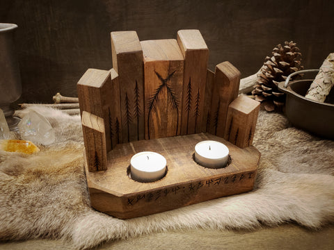 Forest Cathedral Altar Candle Holder