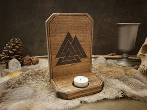 Valknut Candle Holder