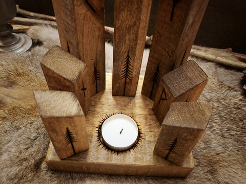 Rune Towers Candle Holder