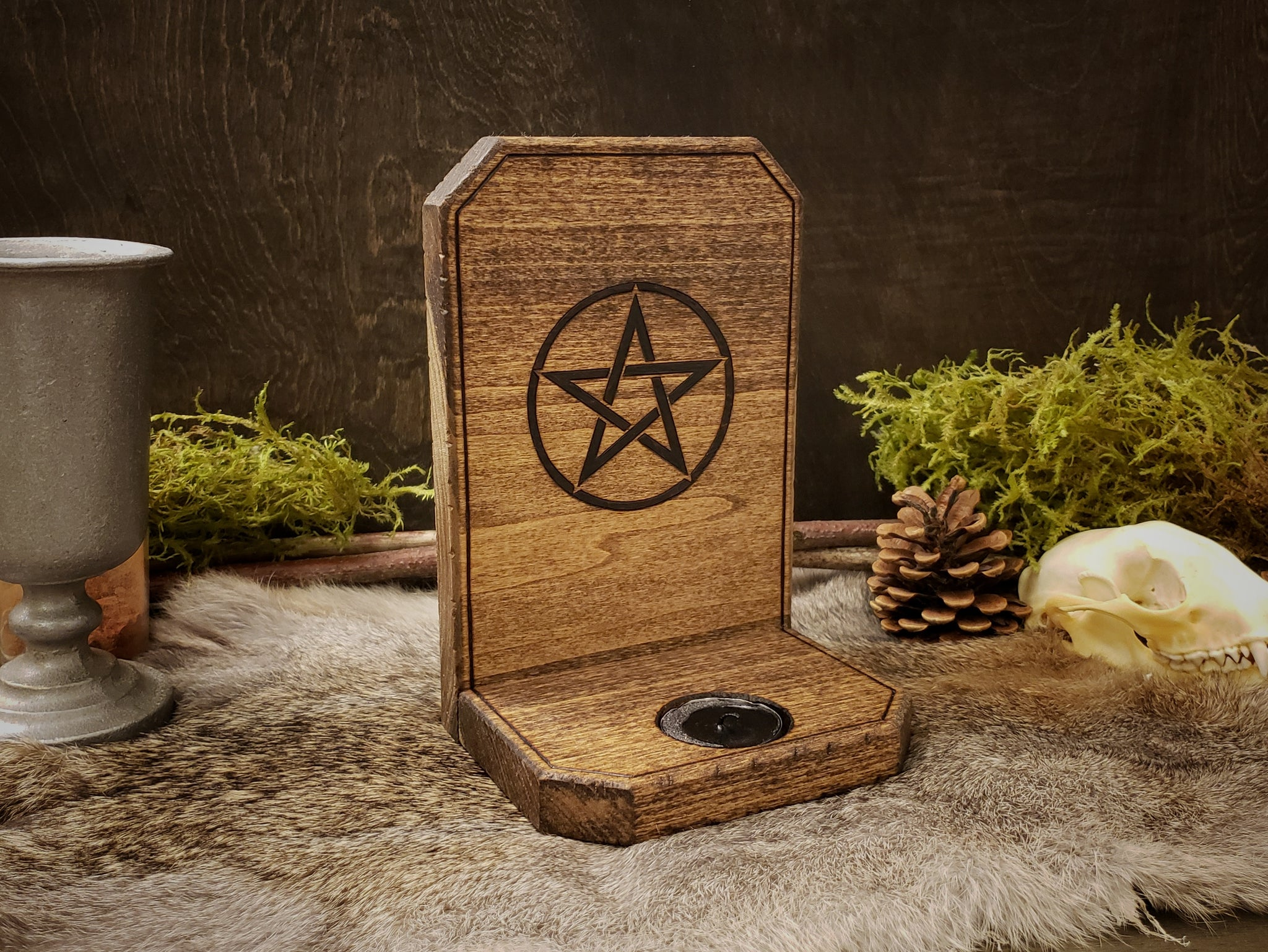 Pentacle Candle Holder