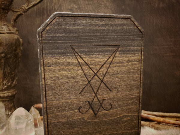 Sigil of Lucifer Candle Holder