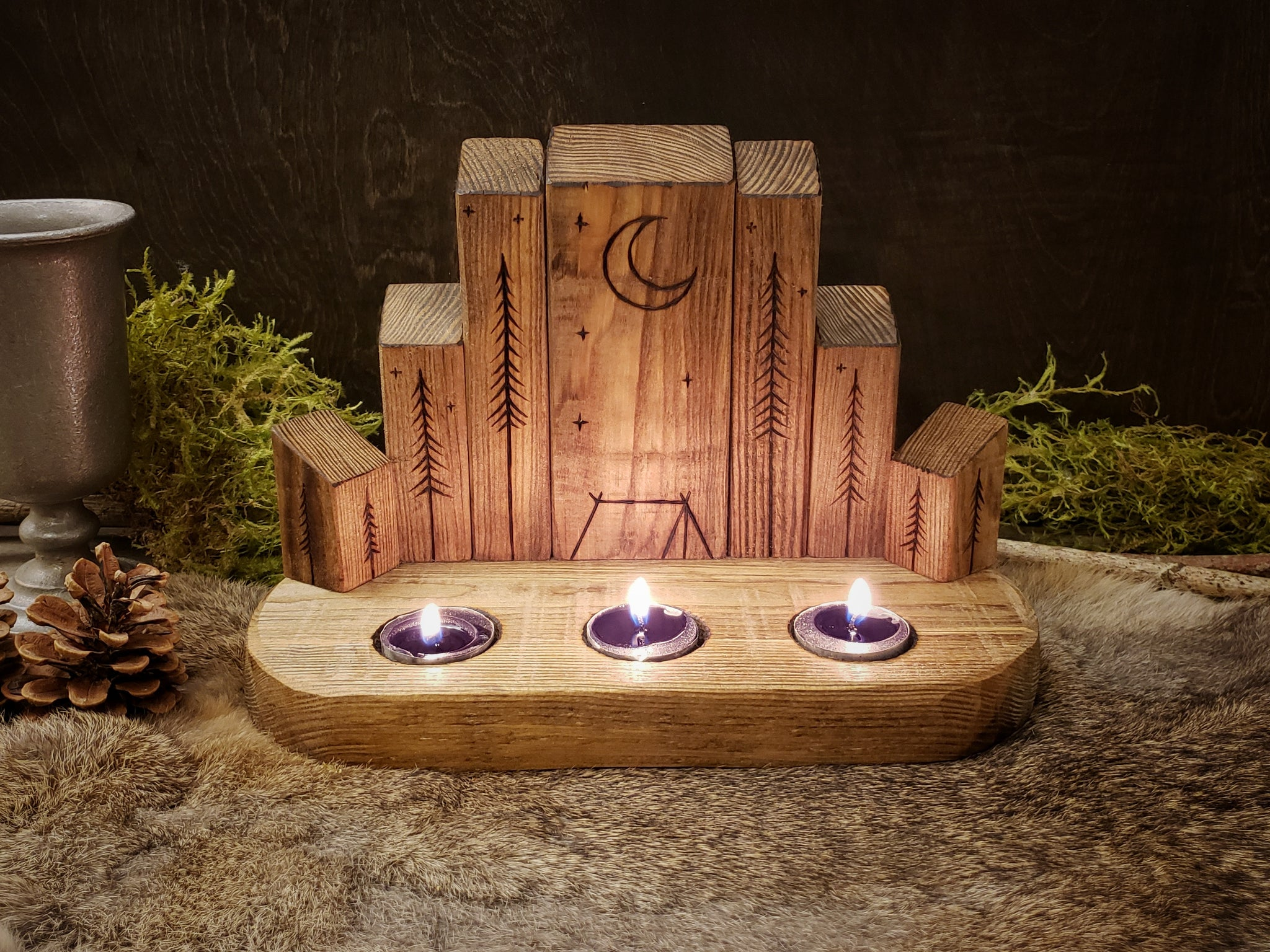 Moonlit Camp Candle Holder