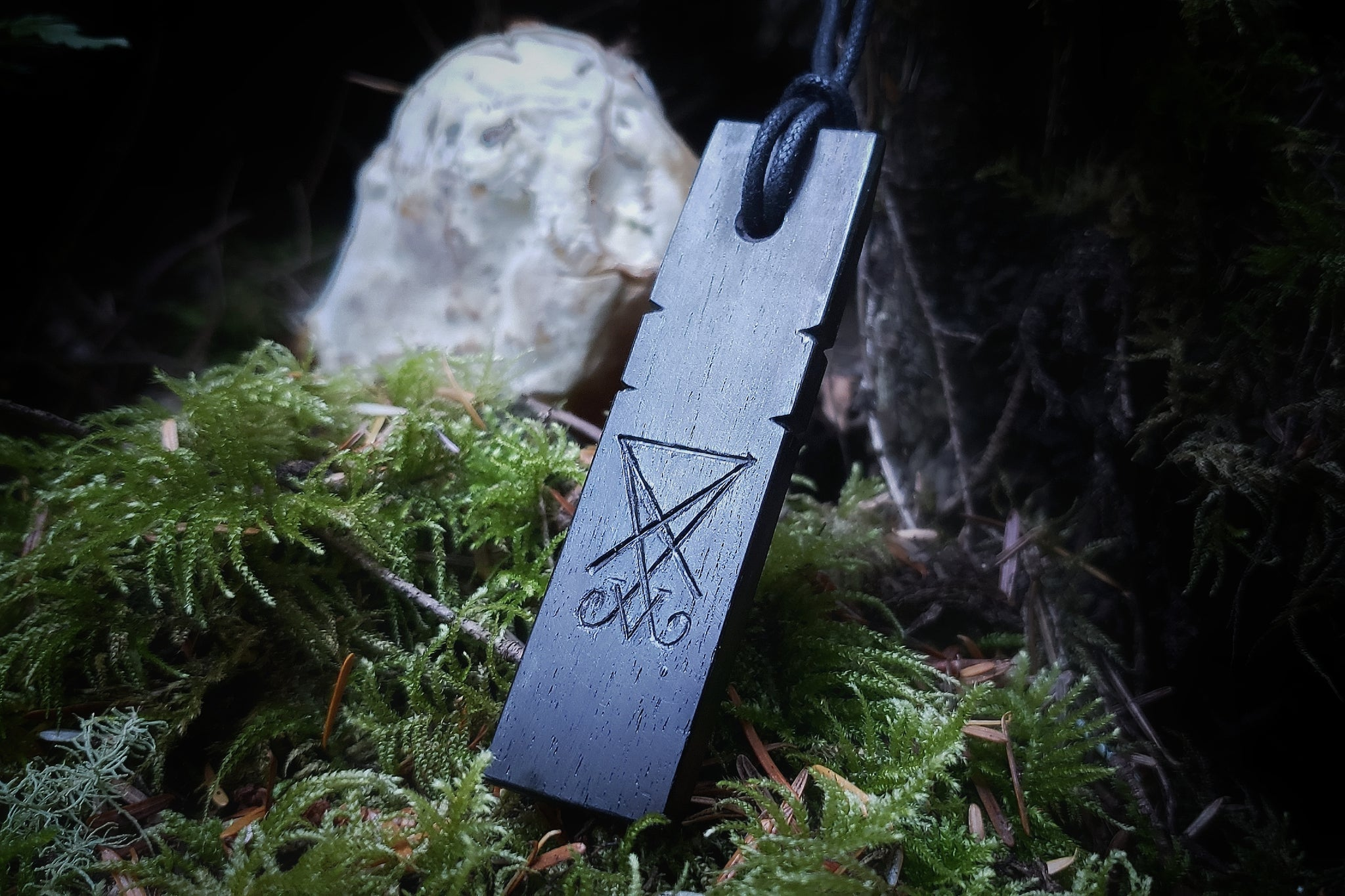 Sigil of Lucifer Blackwood Pendant