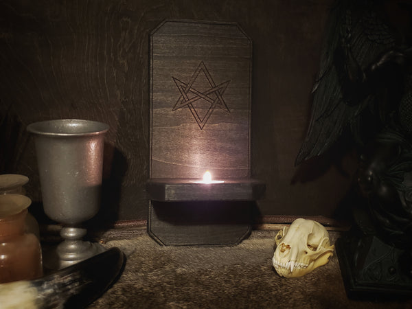 Unicursal Hexagram Wall Sconce