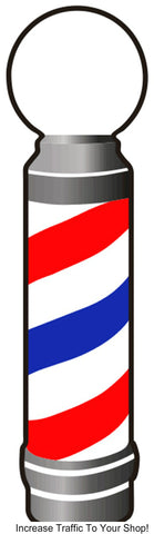 Barber Pole Decal by Barberwall®, Barber pole decal cheap
