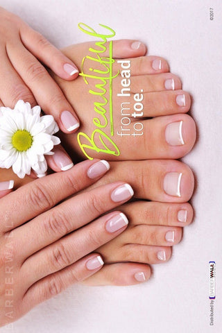 Nail Salon Poster by Barberwall®, Beautiful Manicure & Pedicure Poster at barberwall.com