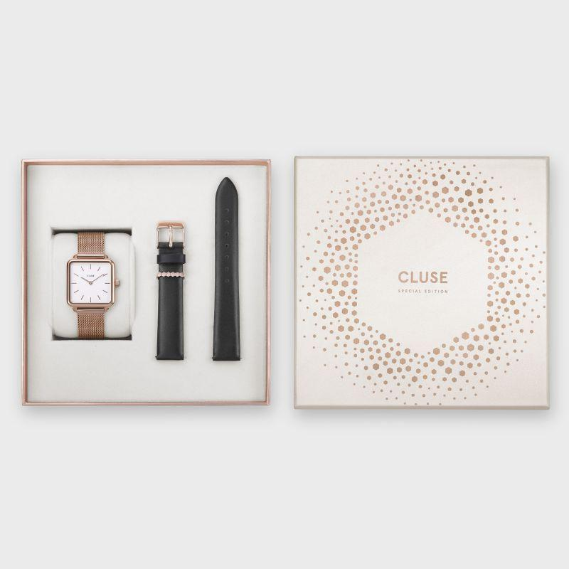 CLUSE Special Edition La Tétragone Rose Gold Mesh/Black Gift Box CLG014 –  Gift box