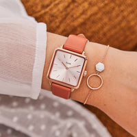 CLUSE La Tétragone Rose Gold/Butterscotch CL60010 - Uhr am Handgelenk