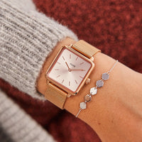 La Tétragone Mesh Full Rose Gold CL60013 - Uhr am Handgelenk