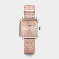 CLUSE La Tétragone Silver/Soft Almond Alligator CL60019 - Uhr