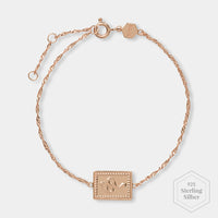 CLUSE Force Tropicale Rose Gold Twisted Chain Tag Bracelet CLJ10022 - Armband