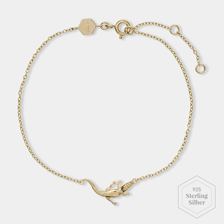 CLUSE Force Tropicale Gold Alligator Chain Bracelet CLJ11021 - Armband