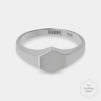 CLUSE Essentielle Silver Hexagon Ring 56 CLJ42011-56 - Ring size 56