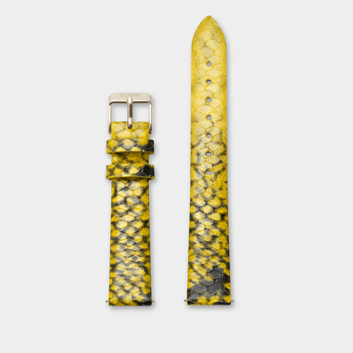 Image: CLUSE 16 mm  Strap Yellow Python/Gold CLS385 - Armband