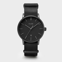 CLUSE Aravis nato leather black, black/black CW0101501010 - Uhr