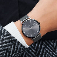 CLUSE La Bohème Mesh Dark Grey, Dark Grey/Dark Grey CW0101201022 - Watch on wrist