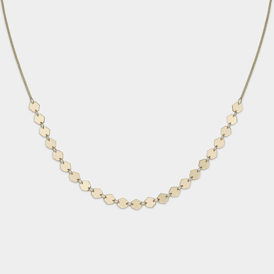CLUSE Essentielle Gold All Hexagons Choker Necklace CLJ21003 - halskette