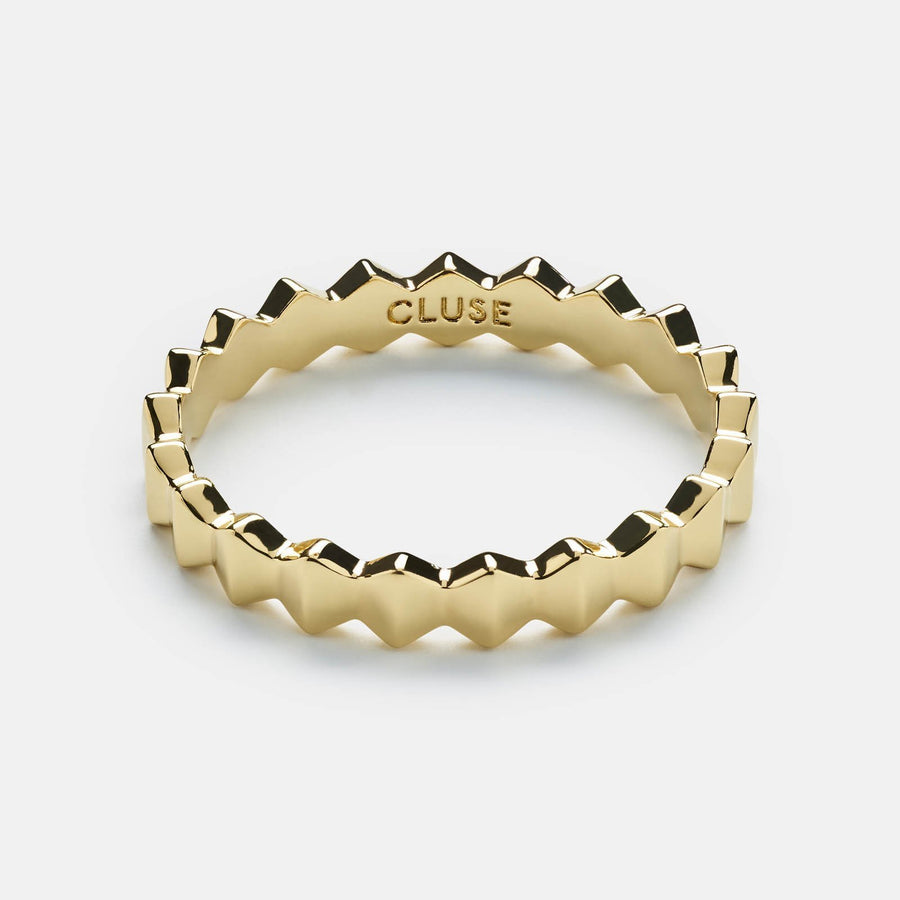 CLUSE Essentielle Gold All Hexagons Ring CLJ41006-52 - Ringgröße 52