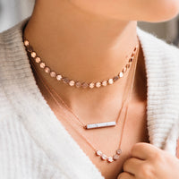 CLUSE Essentielle Rose Gold All Hexagons Choker Necklace CLJ20003 - halskette am hals