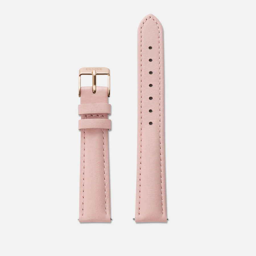 Strap 16 mm Leather Pink/Rose Gold CS1408101026 - uhrenarmband