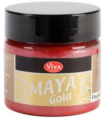 Firered Maya Gold Metallic Paint