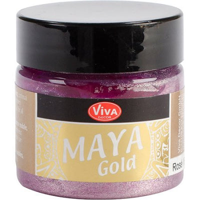 Rose Maya Gold Metallic Paint