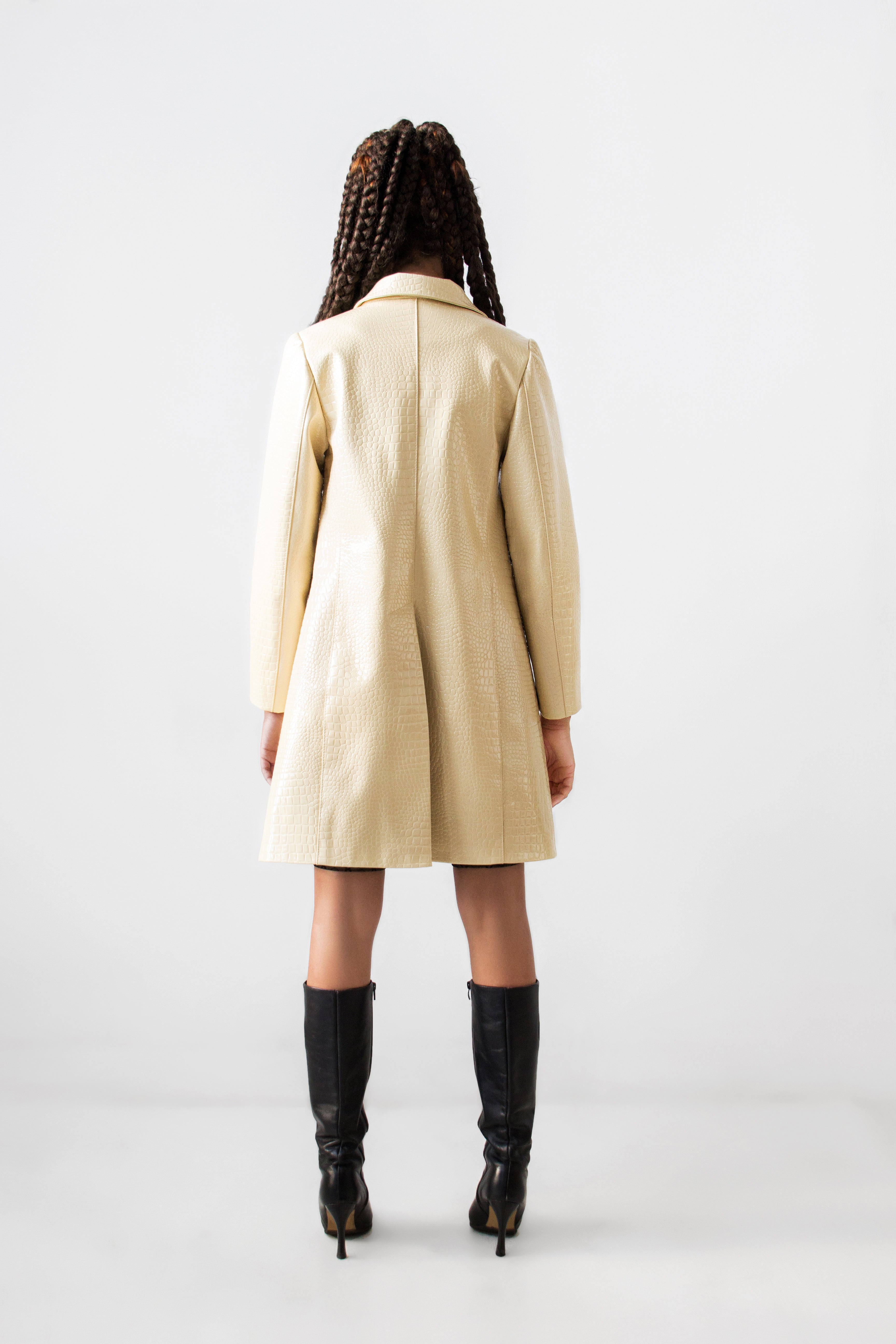 Faux Alligator Trench