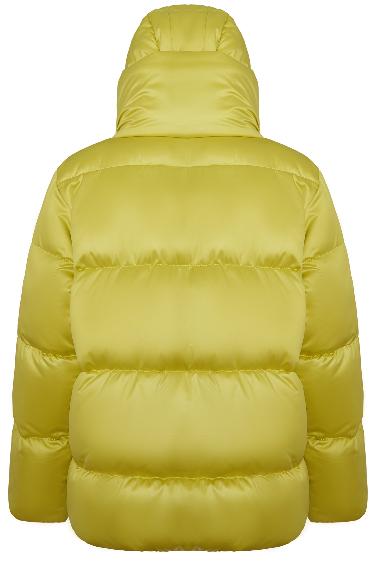 Light green down jacket