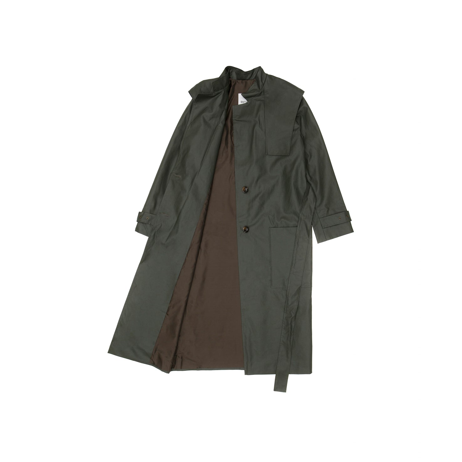 Olive military trench