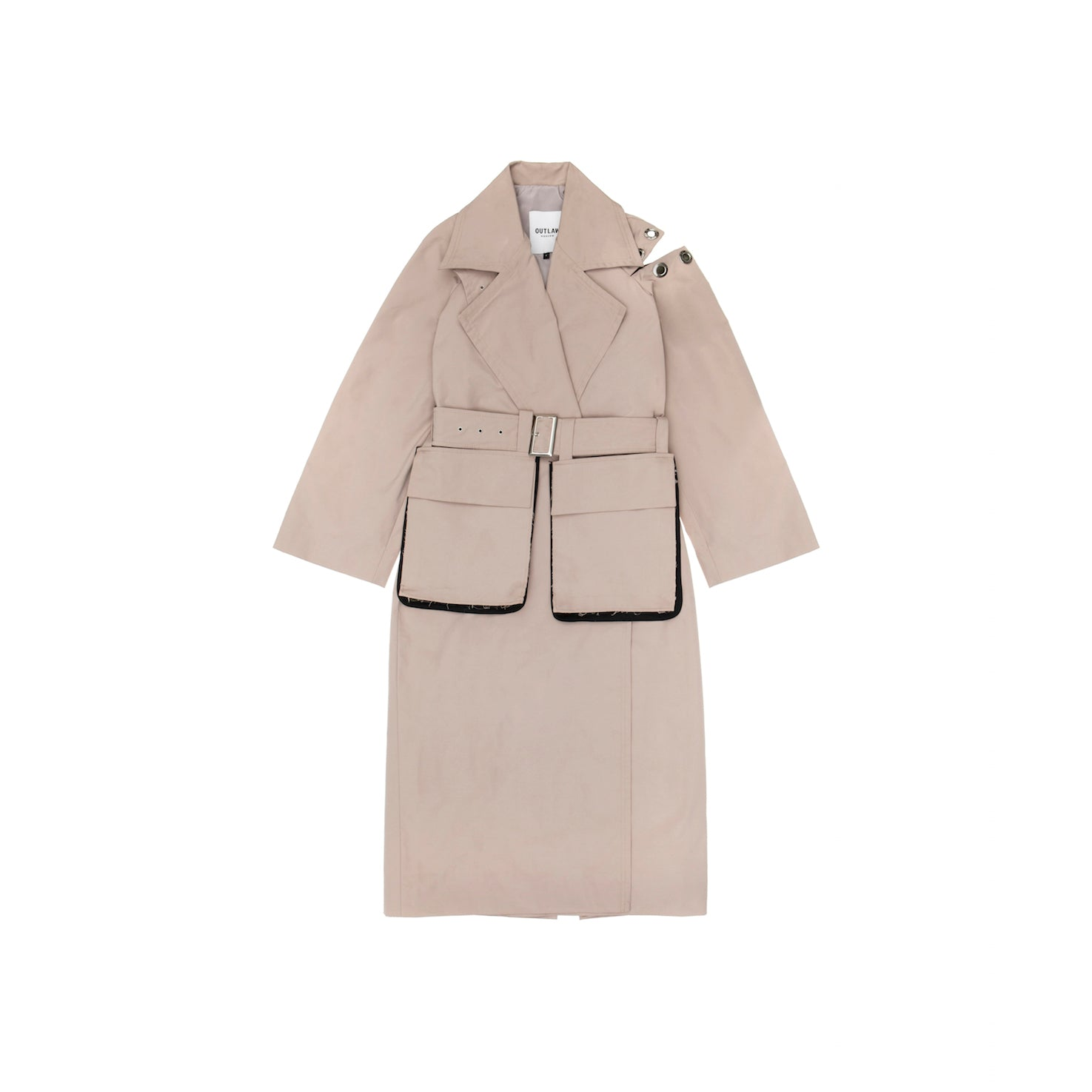 Ragged Sleeve Trench