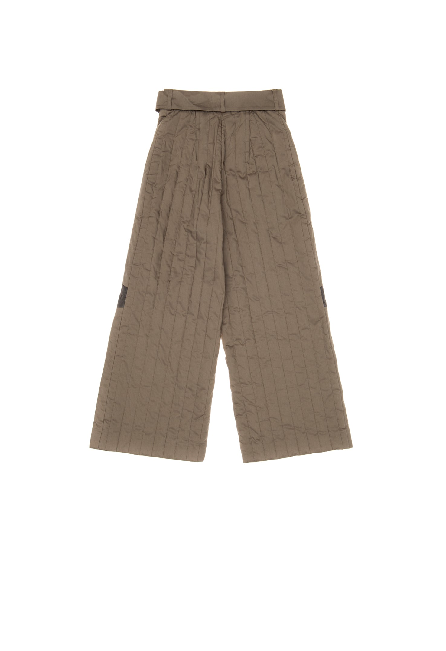 Knee Patch Khaki Trousers