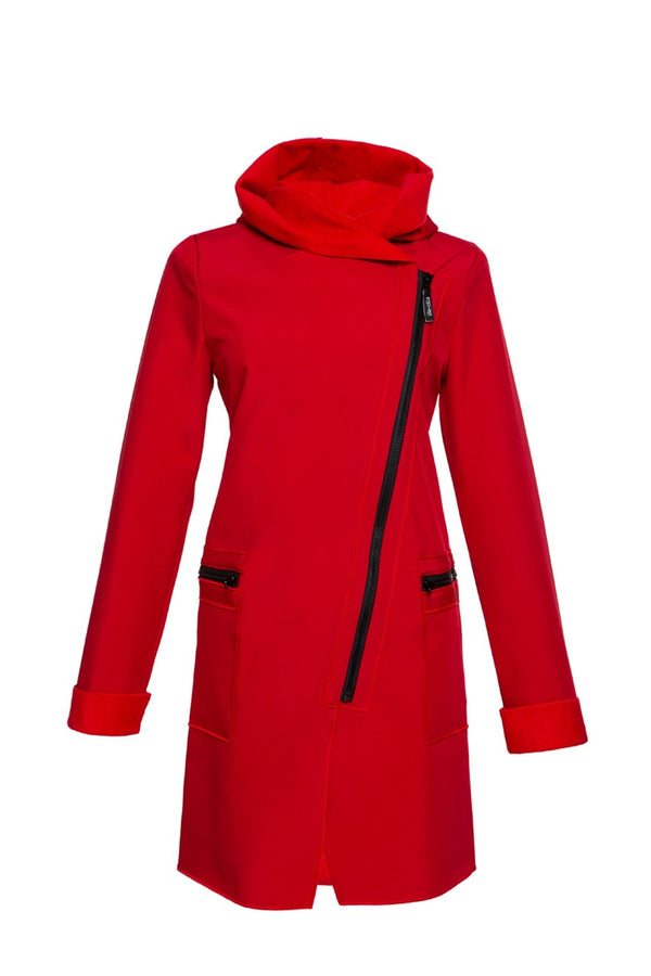 FIODA COAT / CHERRY  RED