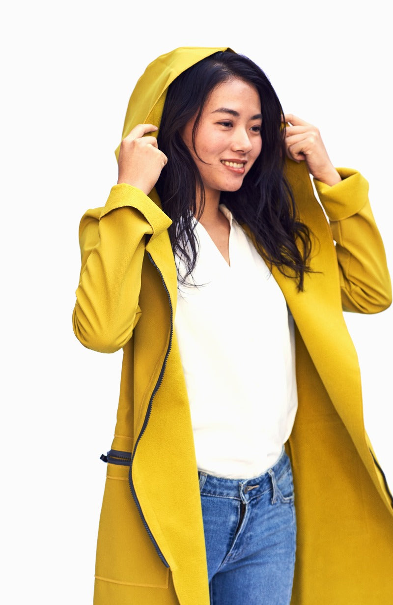 FIODA Coat / MUSTARD YELLOW