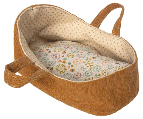 Maileg Mustard Carry Cot for Micro Mice and Bunnies Children- a-fly-went-by.myshopify.com