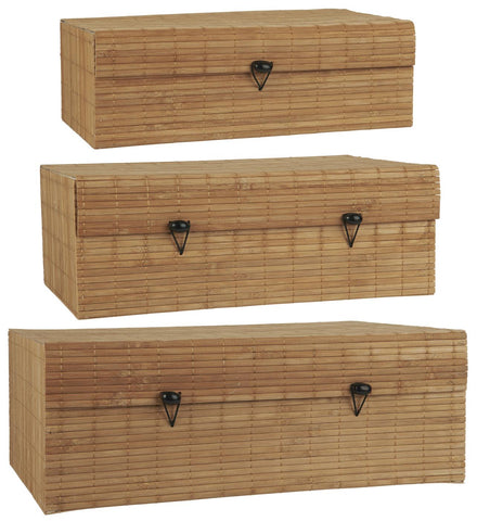 Set of 3 Natural Bamboo Storage Boxes by IB Laursen - A Fly Went By