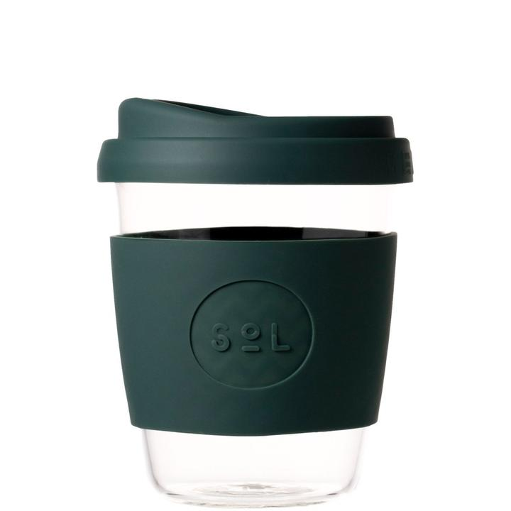 12oz Reusable Deep Sea Green Cup by SoL Cups - A Fly Went By