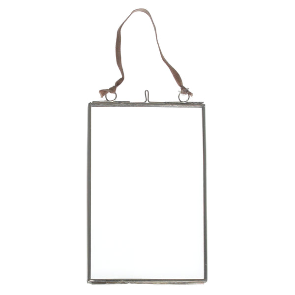Small Hanging Silver and Glass Photo Frame