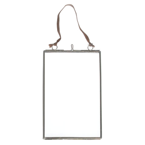 Small Hanging Silver and Glass Photo Frame by A Fly Went By - A Fly Went By