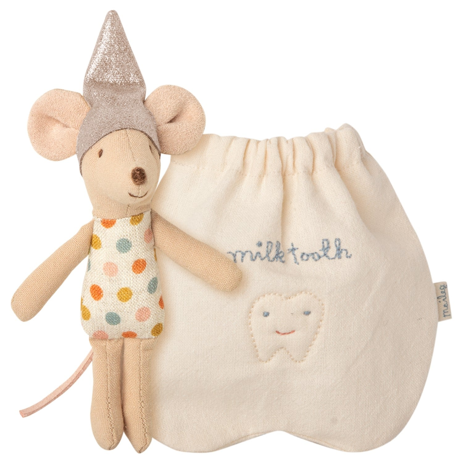 Little Tooth Fairy Mouse in Cotton Pouch by Maileg - A Fly Went By