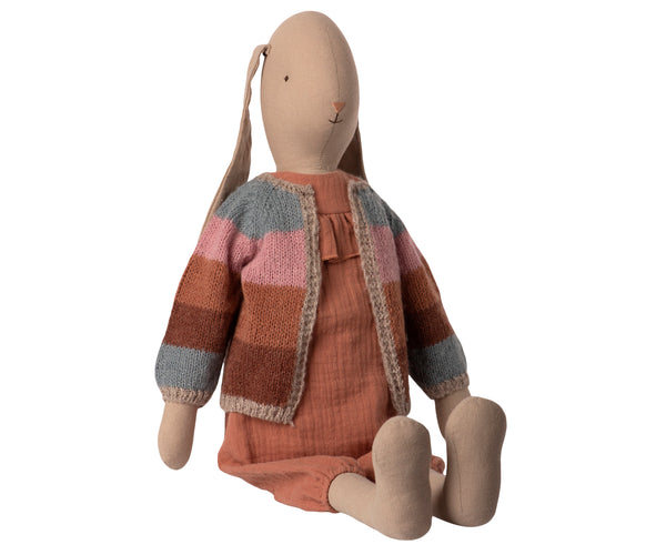 Bunny in Jumpsuit And Knitted Cardigan - Size 5