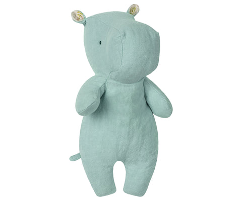 Maileg Soft Aqua Blue Hippo Children- a-fly-went-by.myshopify.com