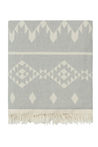 Gorgeous Geometric Grey Fleecy Throw/Blanket