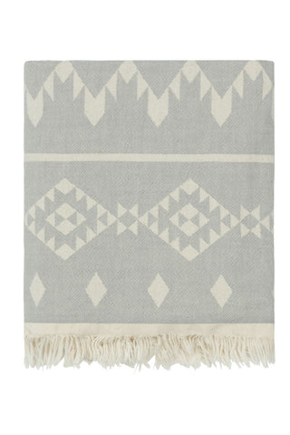 Gorgeous Geometric Grey Fleecy Throw/Blanket by Ailera - A Fly Went By