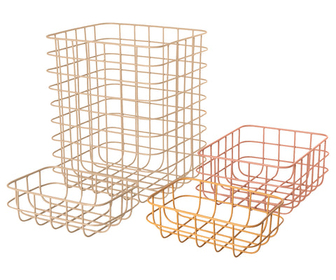 Maileg 4 Piece Set of Metal Wire Baskets