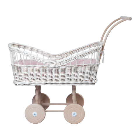 Gorgeous White Wicker Pram