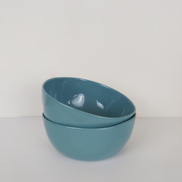 Set of 4 Large Petrol Blue Dipping Bowls