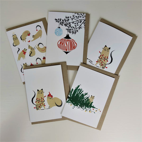 Gorgeous Set of 5 Christmas Cards