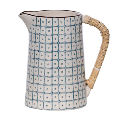 Bloomingville Blue Elizabeth Milk Jug Homeware- a-fly-went-by.myshopify.com